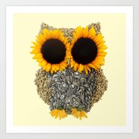 Hoot! Day Owl! Art Print