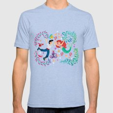 The Little Mermaid wall painting Mens Fitted Tee Tri-Blue SMALL