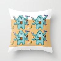 Multitasking Monster Throw Pillow