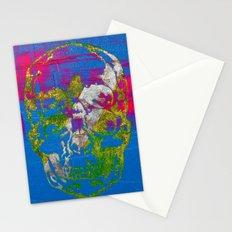 the 4i skull - mixed media on canvas Stationery Cards