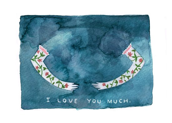 i love you much Art Print