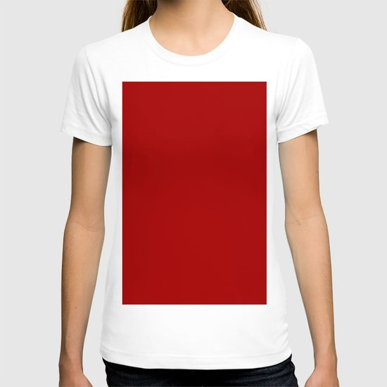 Dark candy apple red T-shirt