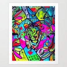 PopART Tiger by Nico Bielow Art Print