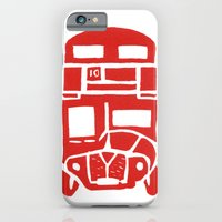 Red bus in London iPhone 6 Slim Case