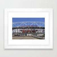 West Ham Olympic Stadium London Framed Art Print