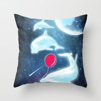Friend Of The Night Throw Pillow