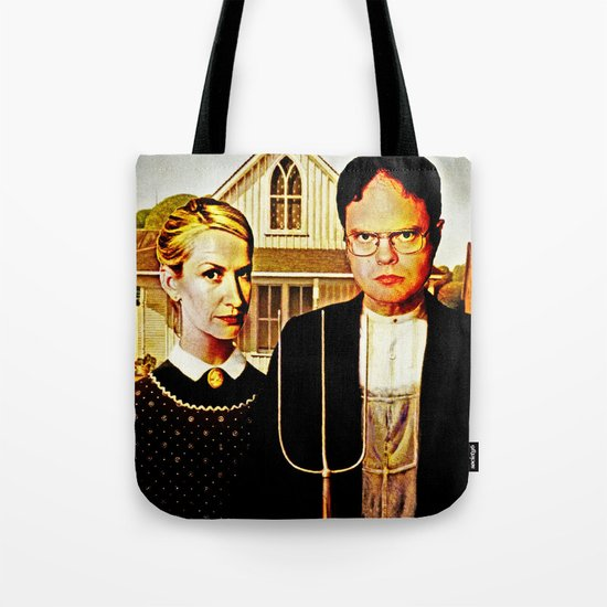 Dwight Schrute & Angela Martin (The Office: American Gothic) Tote Bag