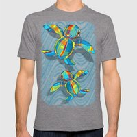 Baby Sea Turtle Fabric T… Mens Fitted Tee Tri-Grey SMALL