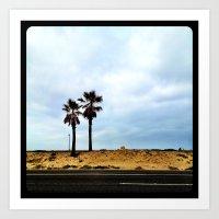 Palm Trees At The Beach. Art Print