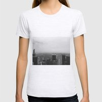 New York In Black And Wh… Womens Fitted Tee Ash Grey SMALL