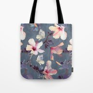 Butterflies And Hibiscus… Tote Bag