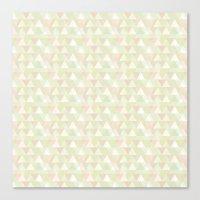 Pastel triangles Canvas Print
