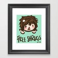 'Free Shrugs' Framed Art Print