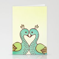 Peacock Love Stationery Cards