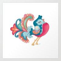 Confident Bird Art Print