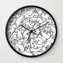 Bunny Pattern Wall Clock