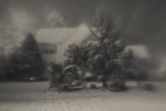 Home Covered in Snow Canvas Print