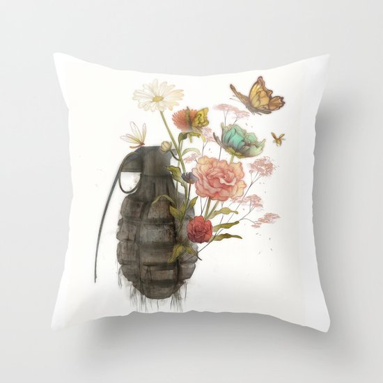 Containability to Sustainability  Throw Pillow