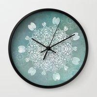 Turquoise Batik Mandala … Wall Clock
