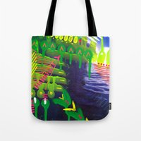 Wave green Tote Bag