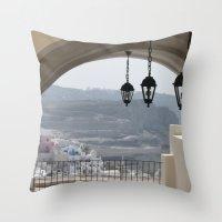 Lighting Santorini, Gree… Throw Pillow
