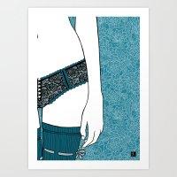 La femme 22 Art Print