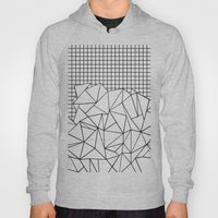 Abstract Grid #2 Black O… Hoody