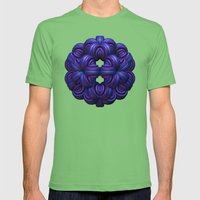 Purple Orb Mens Fitted Tee Grass SMALL