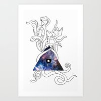 Space Snakes Art Print