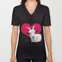 Totes Ma Goats - Red Unisex V-Neck