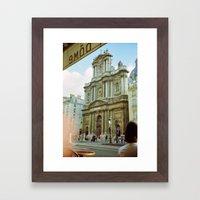Paris in 35mm Film: Eglise Saint-Paul-Saint-Louis in Le Marais Framed Art Print