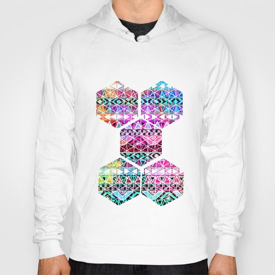 Neon Aztec | Purple Pink Neon Bright Andes Abstract Pattern Hoody