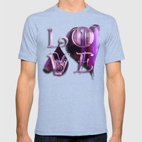 Two Hearts II Mens Fitted Tee Tri-Blue SMALL