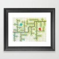 Green Labyrinth Framed Art Print