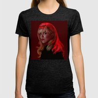 Laura Palmer From Twin P… Womens Fitted Tee Tri-Black SMALL