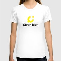 Citron Bien Womens Fitted Tee White SMALL