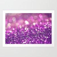 Pretty Purples  - an abstract photograph Art Print