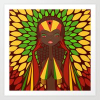 FIFA 2014 Samba Girls Series: Ghana Art Print