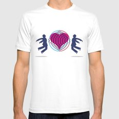 Magnetic love Mens Fitted Tee White SMALL