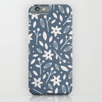 Winter Bloom - In Navy iPhone 6 Slim Case