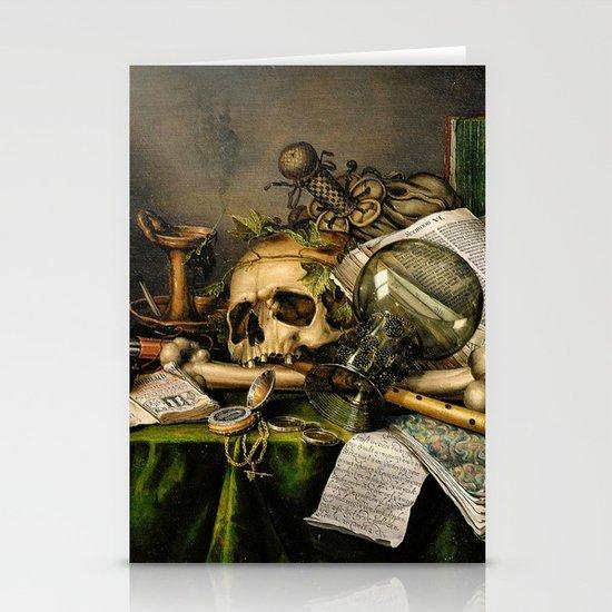 Vintage Vanitas- Still Life with Skull Stationery Card
