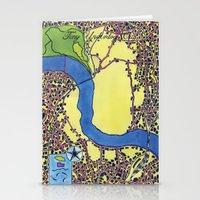 Tiny Underdog City Map Stationery Cards