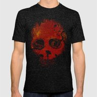 Red Encounter Mens Fitted Tee Tri-Black SMALL