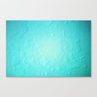 Blue Water Droplets Canvas Print