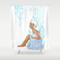 Isabelle and crystals Shower Curtain