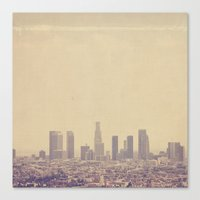 Southland. Los Angeles skyline photograph Canvas Print