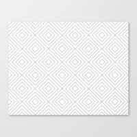 Squares white Canvas Print
