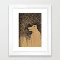Fading Slowly Framed Art Print