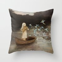 Solo At Dawn Throw Pillow