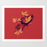Autumn's Butterflies Art Print